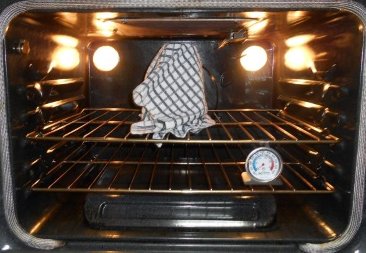 All you need is the warmth of the oven lights.