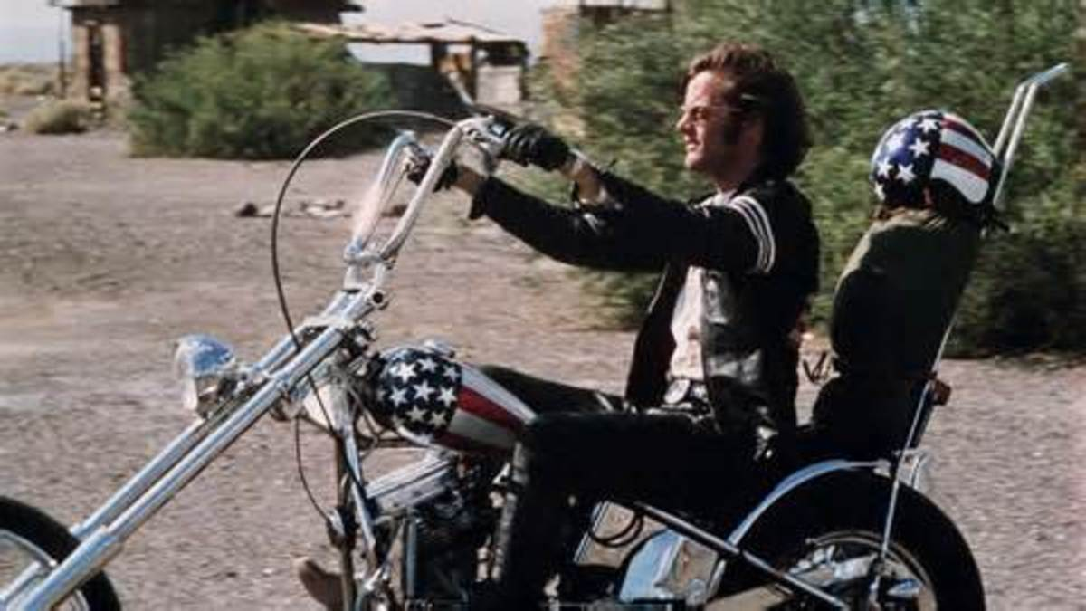 "Captain America in ""Easy Rider"""