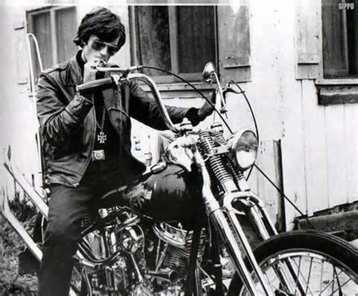 Peter's famous biker poster