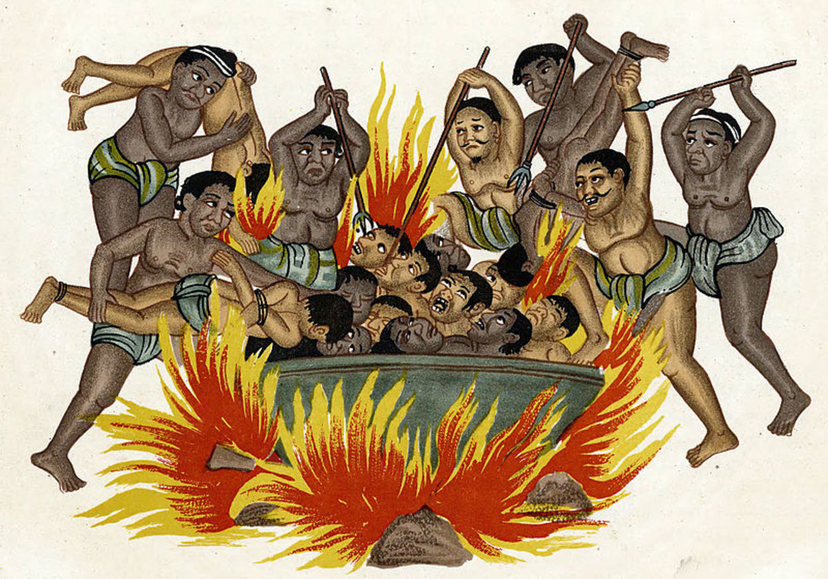 Naraka as believed in Buddhism