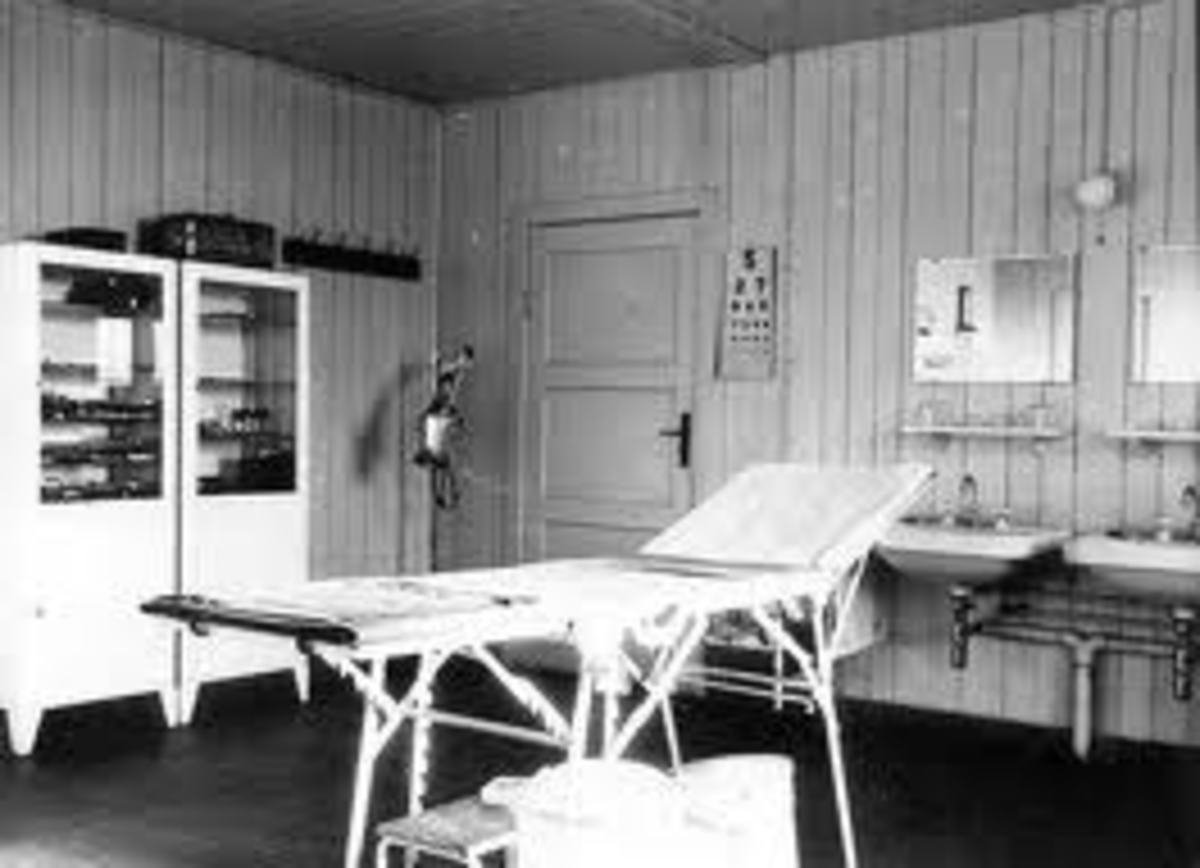 The surgical room in the Ravensbrück concentration camp.