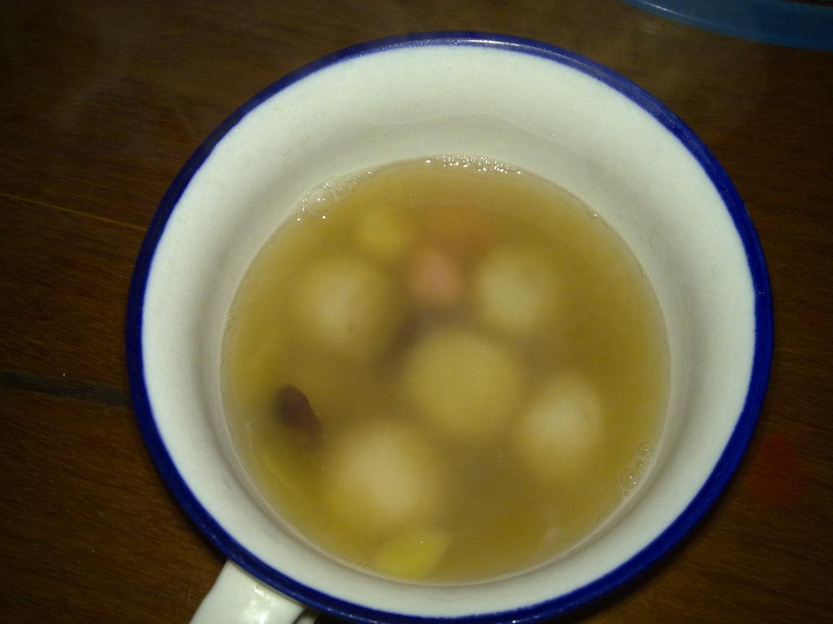a cup of warm Tang Yuan