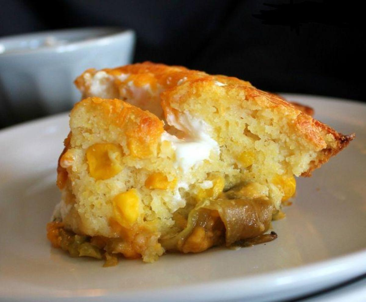 This Green Chilie Cornbread Casserole Is Just Perfect. I Just Love The Taste Of This Casserole.