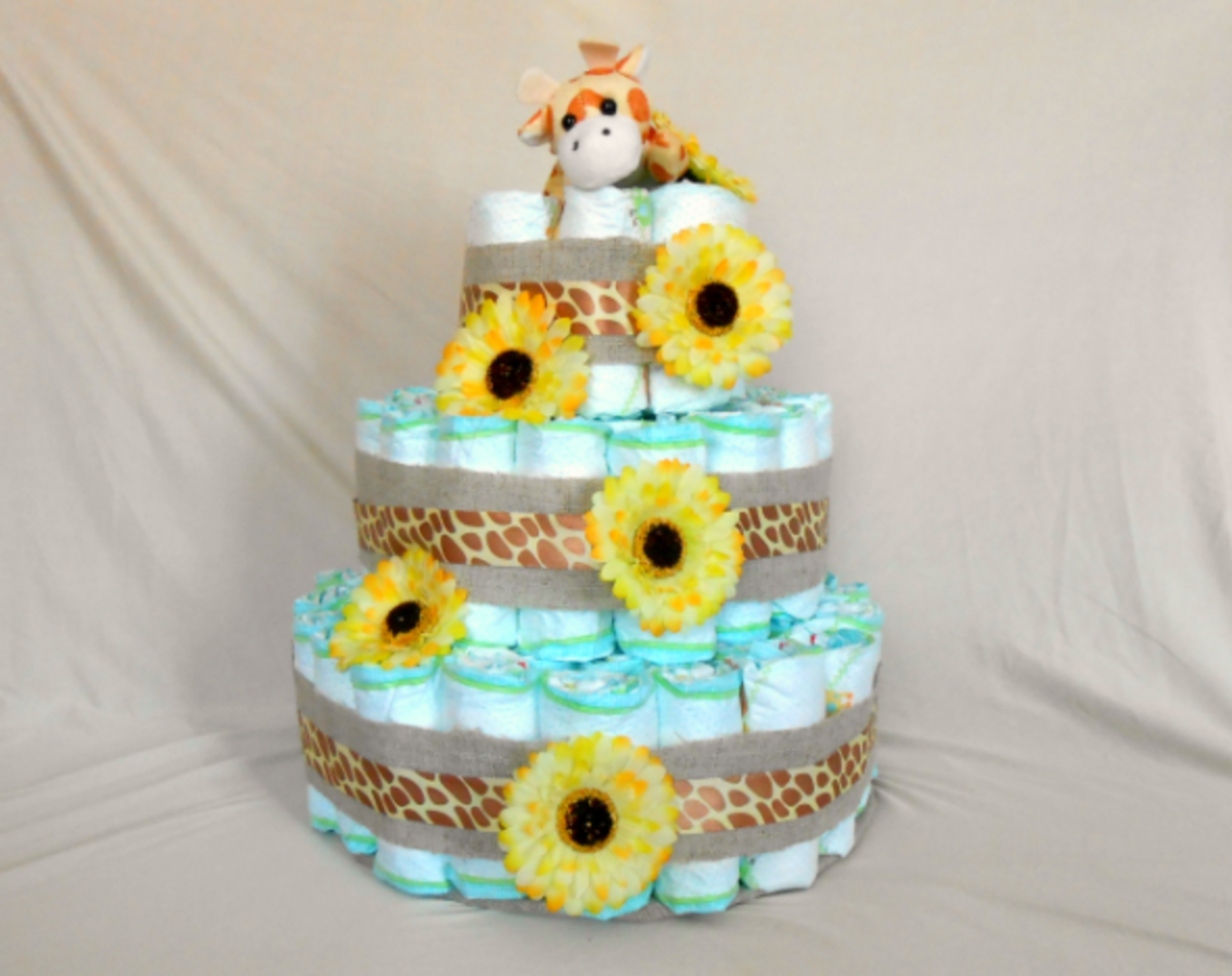 How To Make A Diaper Cake Step By Step Tutorials Hubpages