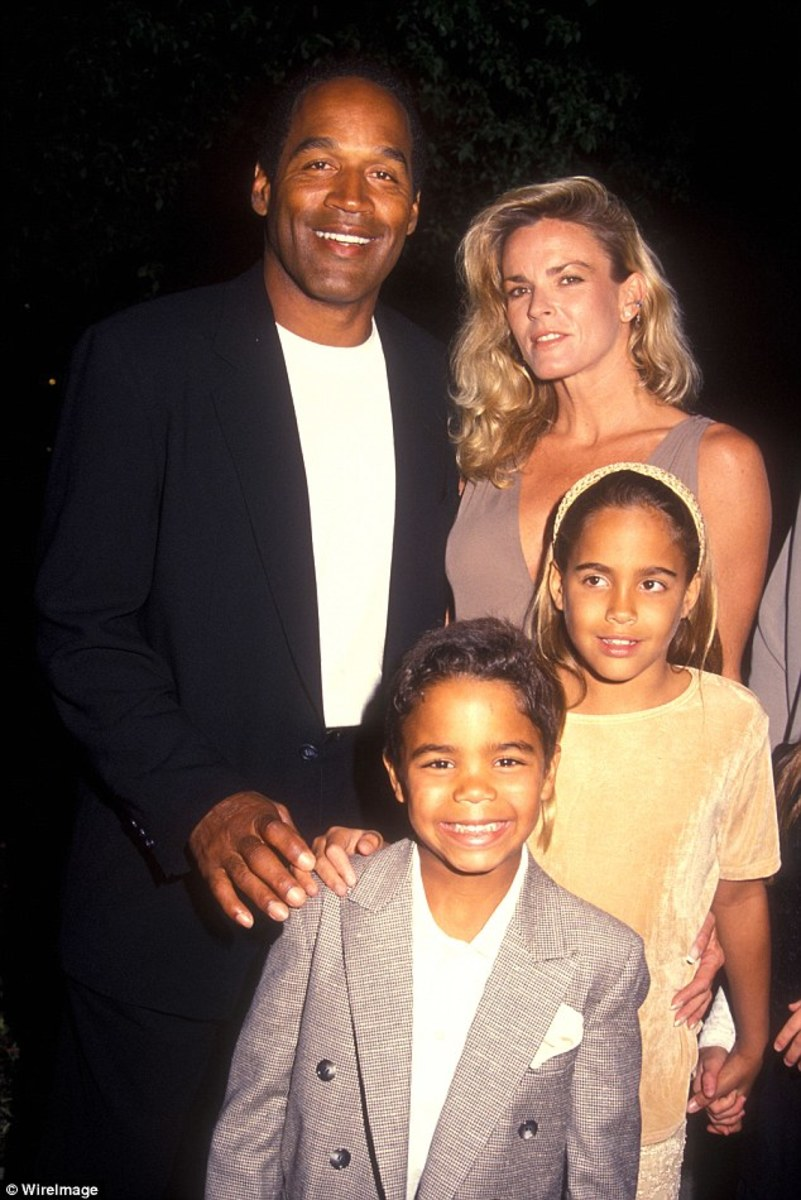 OJ Simpson married Nicole Brown in February 1985. A little more than eight months later, Sydney was born. The couple also had a son together, Justin Ryan Simpson, born in 1988. The family pictured attending a film premiere together in 1994.