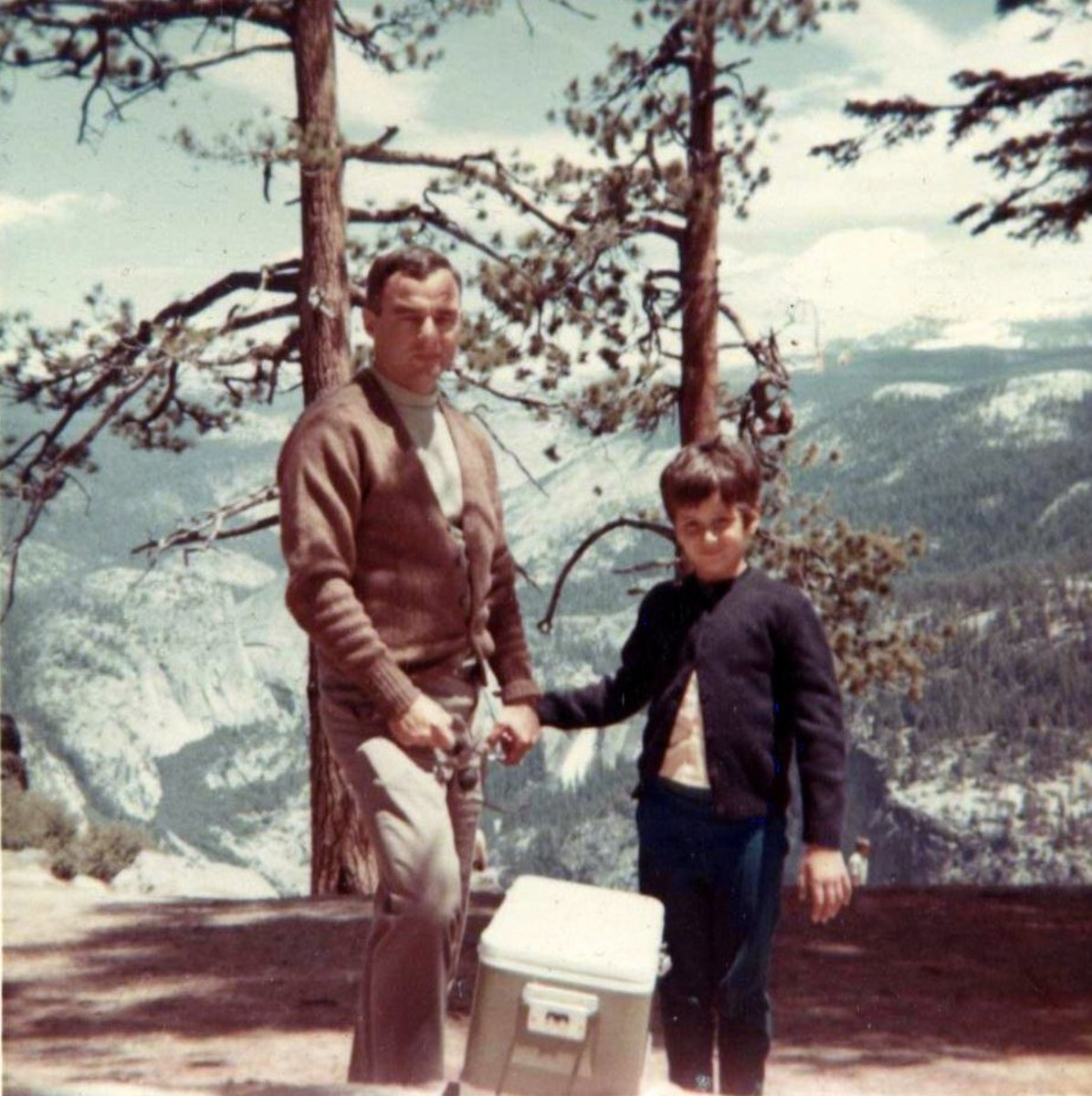 Bob Impson and I in California. We stopped on our way from Thailand to Oklahoma in 1967.