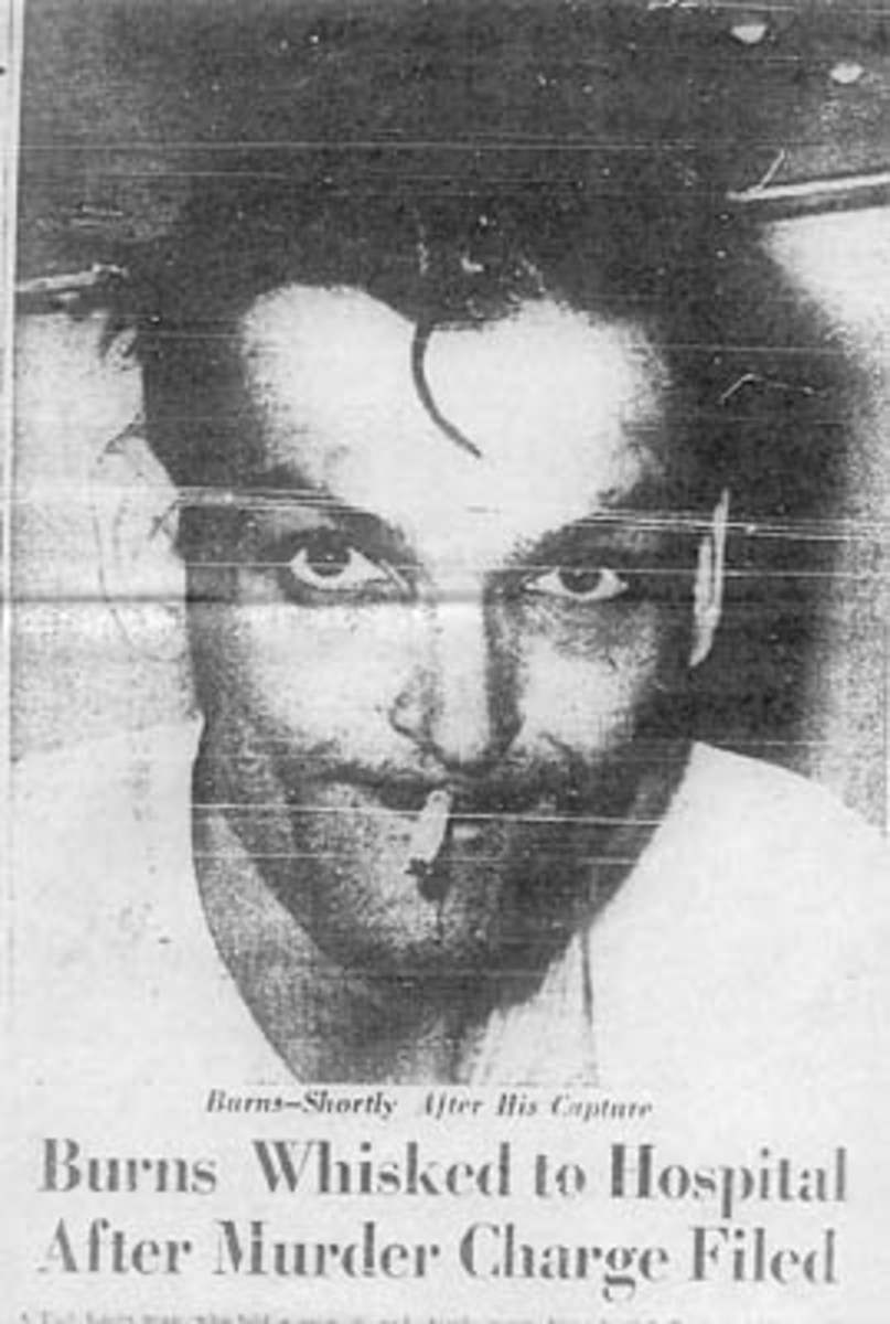 Bobby Joe Burns from The Southwest Times right after his arrest.