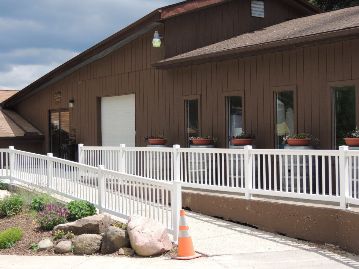 Entrance to the tasting room at The Wolf Creek Winery.