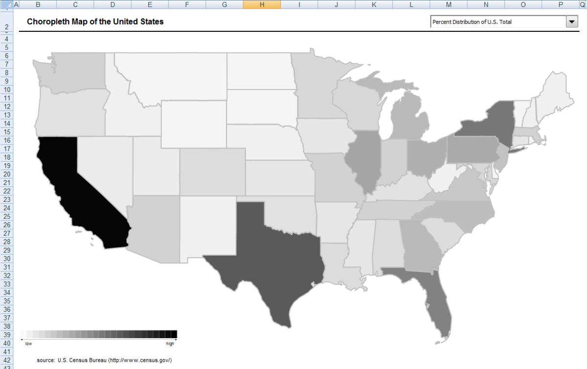Original map provided by the U.S. Census Bureau .