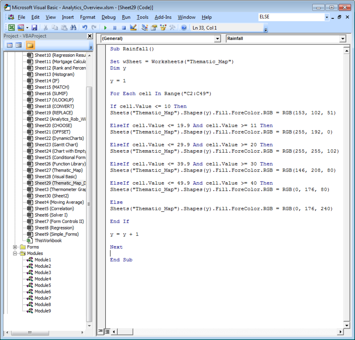 Using the ELSE command in Visual Basic in Excel 2007 and Excel 2010.