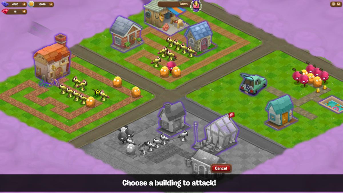 PvZ adventures Brain ball Attack Screen
