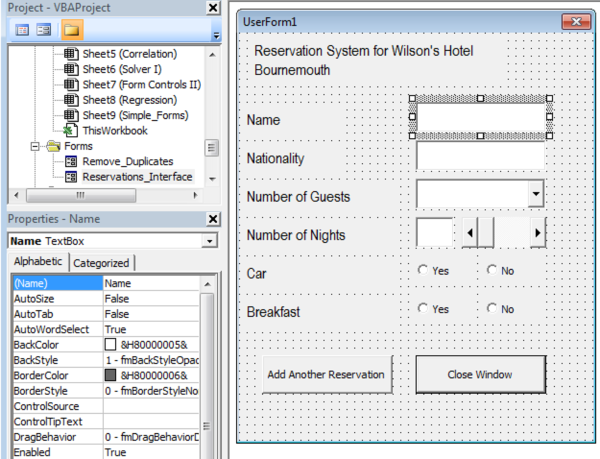 How to edit the Properties of a Control in Excel 2007 or Excel 2010.