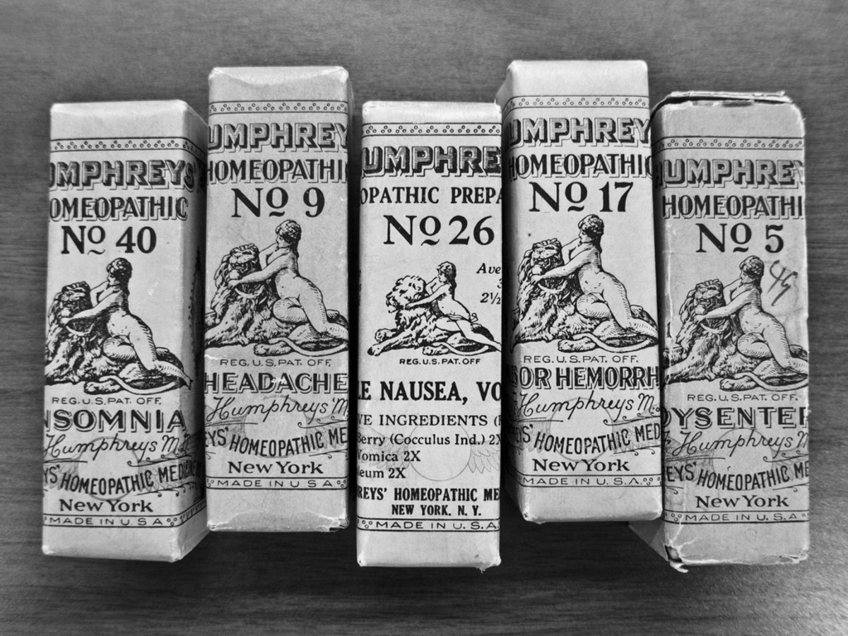 Homeopathic remedies have been sold for centuries as natural cures.