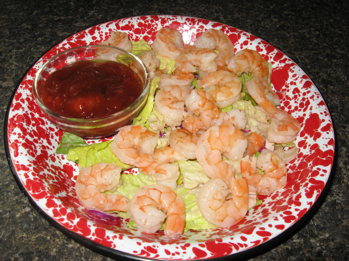 Spicy Shrimp with a sweet dipping sauce