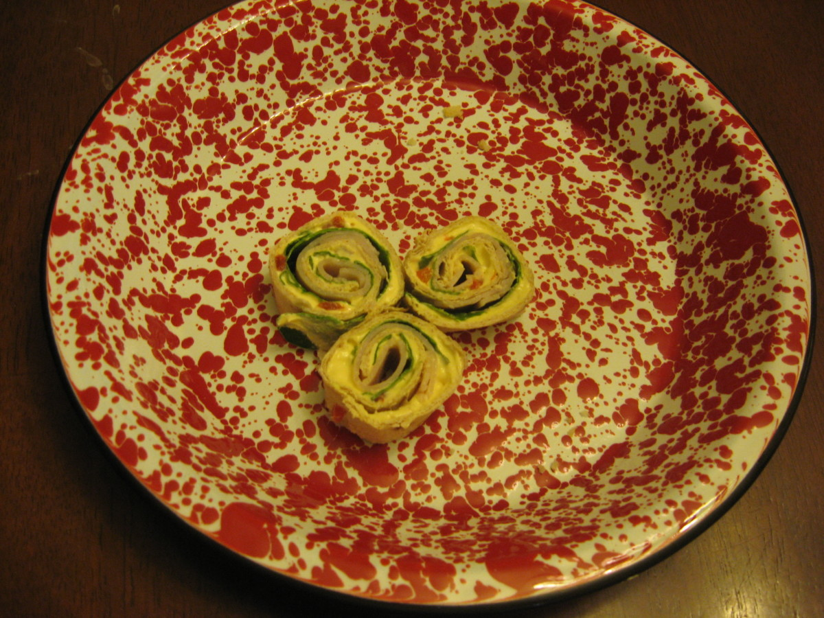Tortilla roll-ups make easy finger foods.