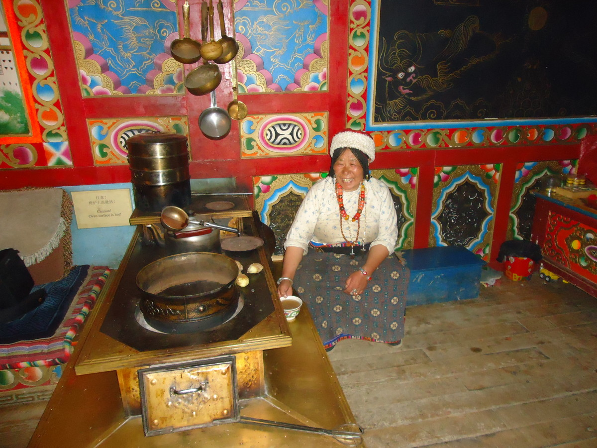 Our Tibetan Host preparing our tea