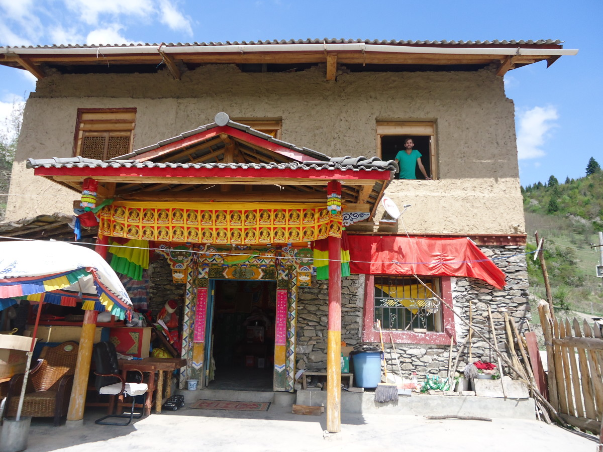 The House where we stayed with a Tibetan Family