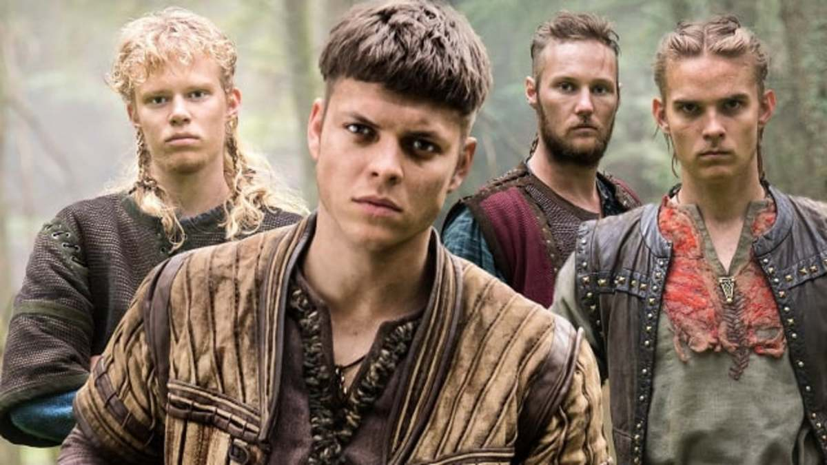 the 4 sons of Ragnar from Aslug l to r:   Sigurd, Ivar, Ubbe, hvitserk