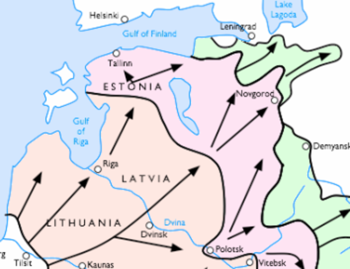 This map shows the advance of Army Group North towards Leningrad in 1941.