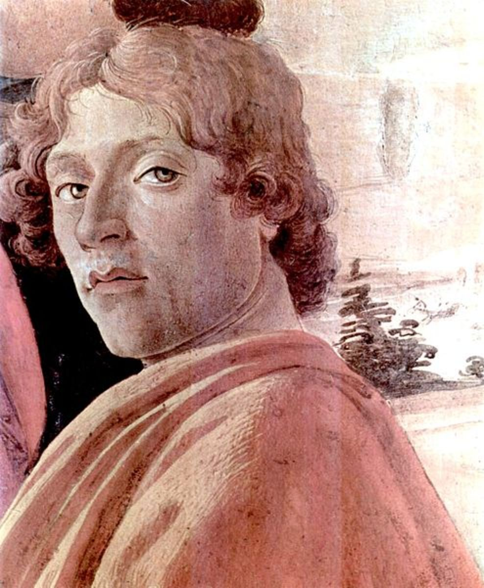 Sandro Botticelli, a self-portrait.