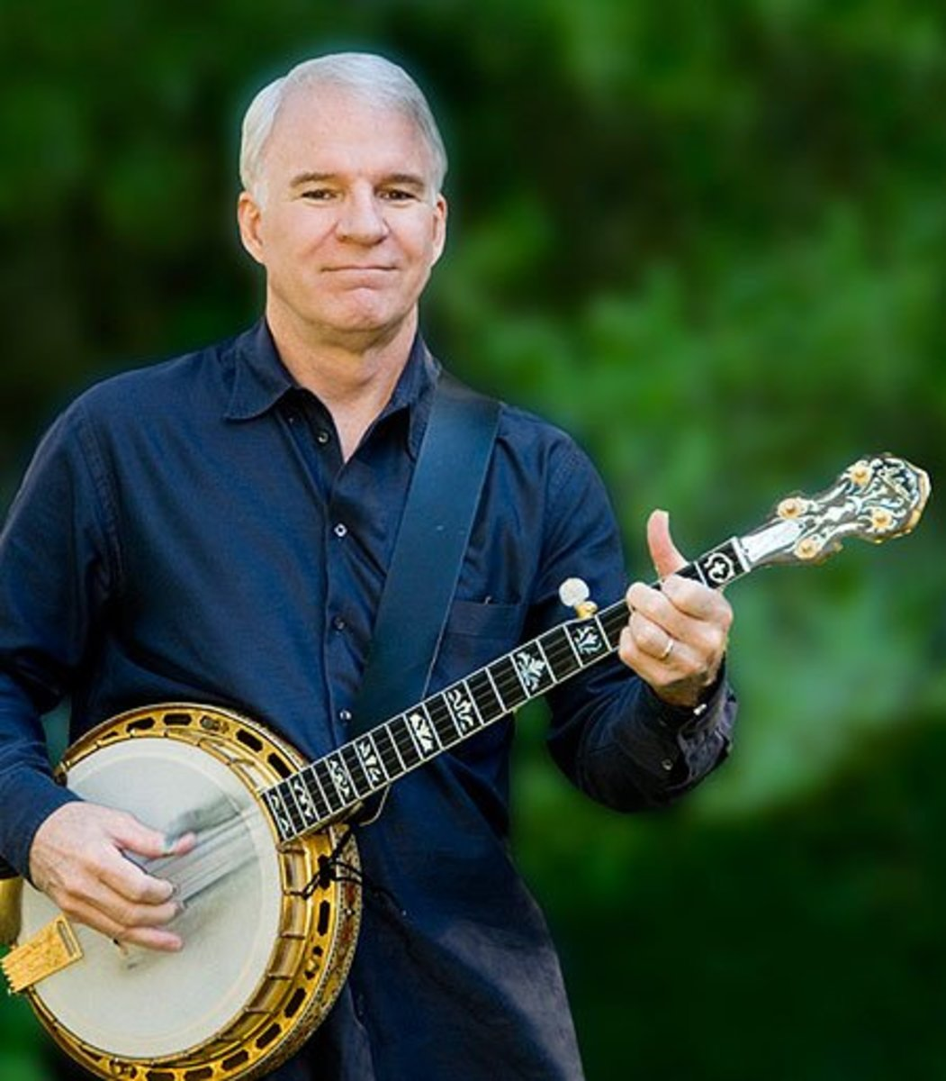 Steve Martin, once ranked #6 stand-up comedian of all time, has transitioned into a jack-of-all trades career which includes a heavy emphasis on his banjo-playing, which earned him a Grammy in 2010 for Best Bluegrass Album.