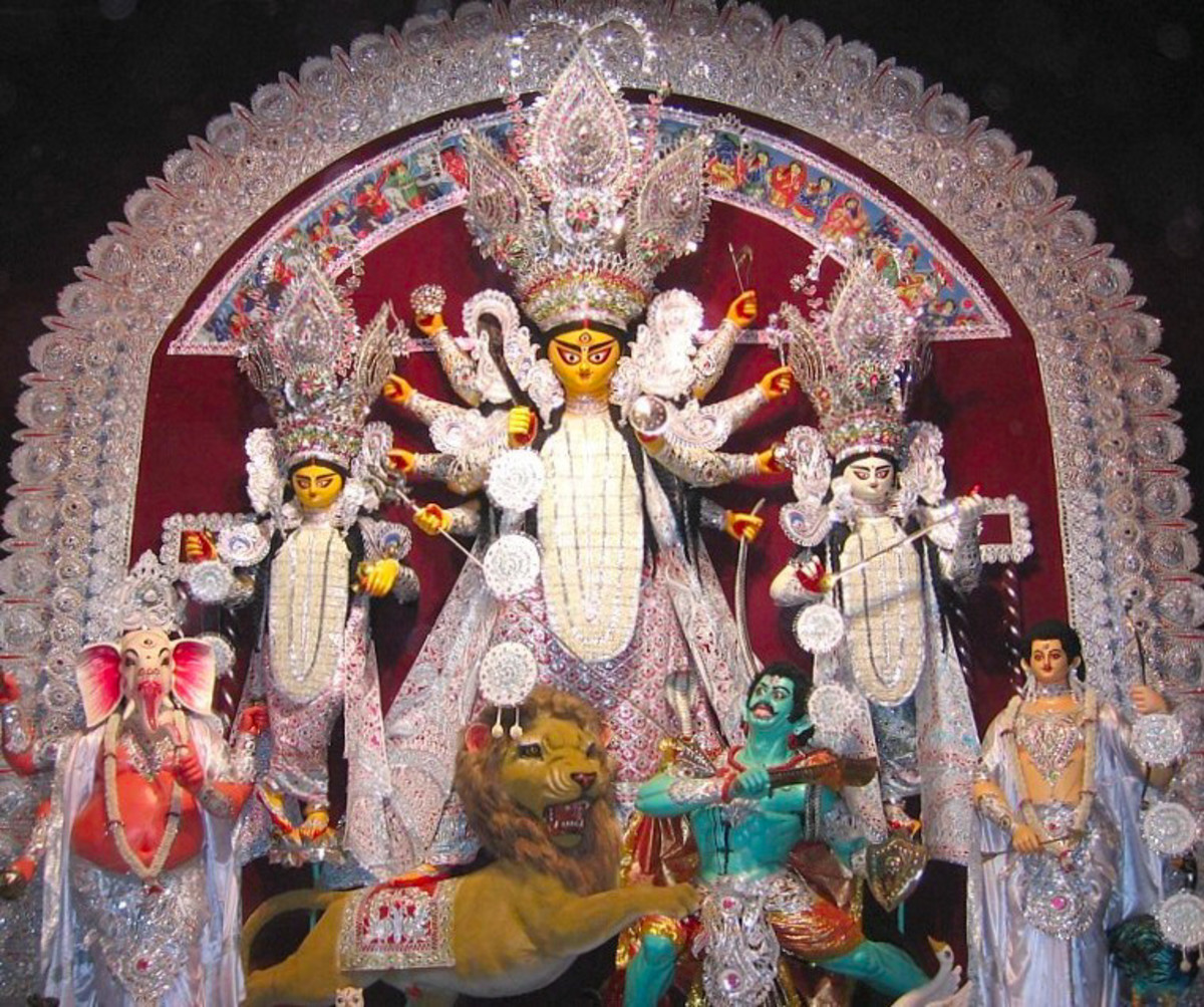 Goddess Durga along with her four children
