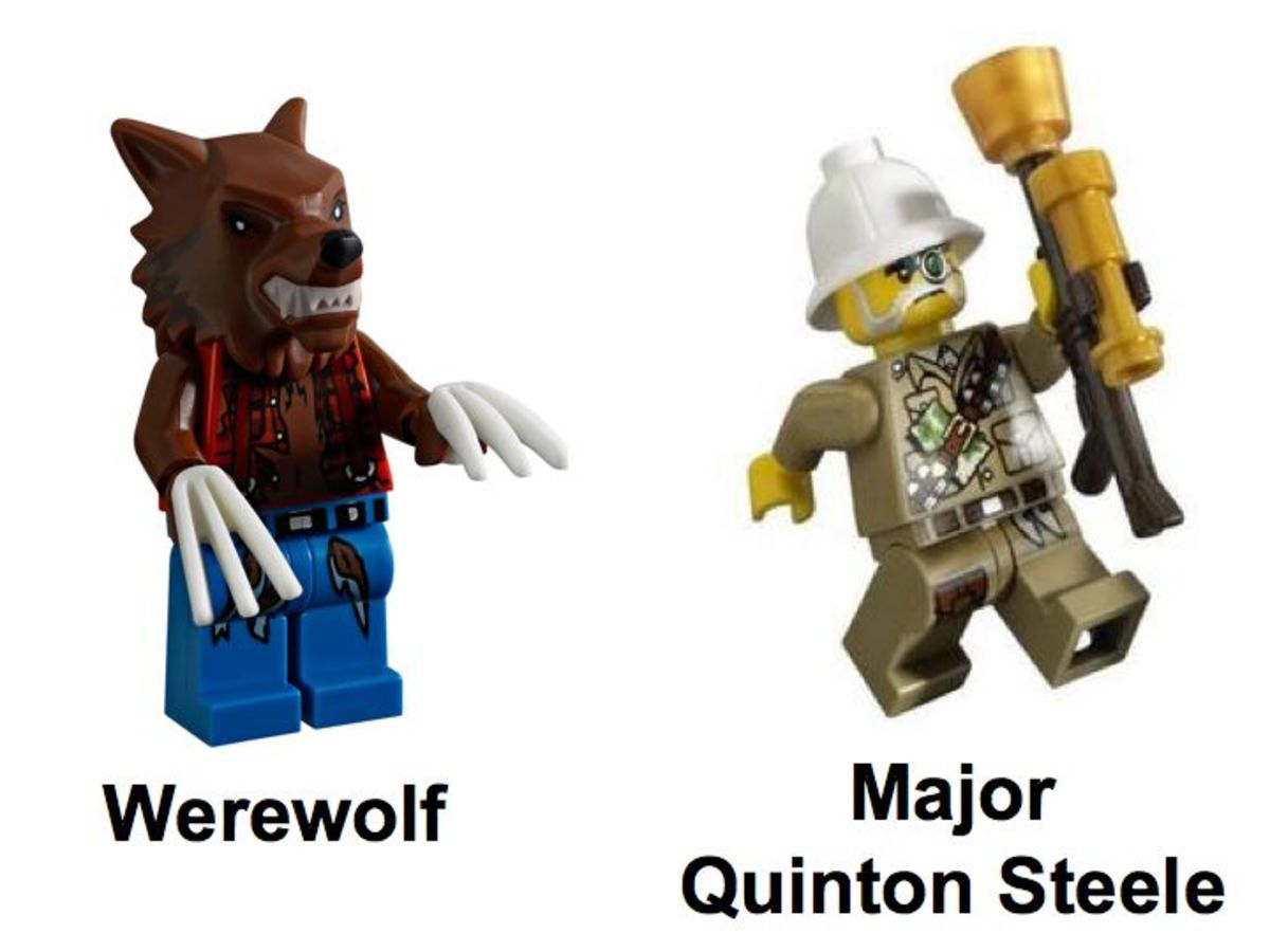 LEGO Monster Fighters The Werewolf 9463 Minifigures