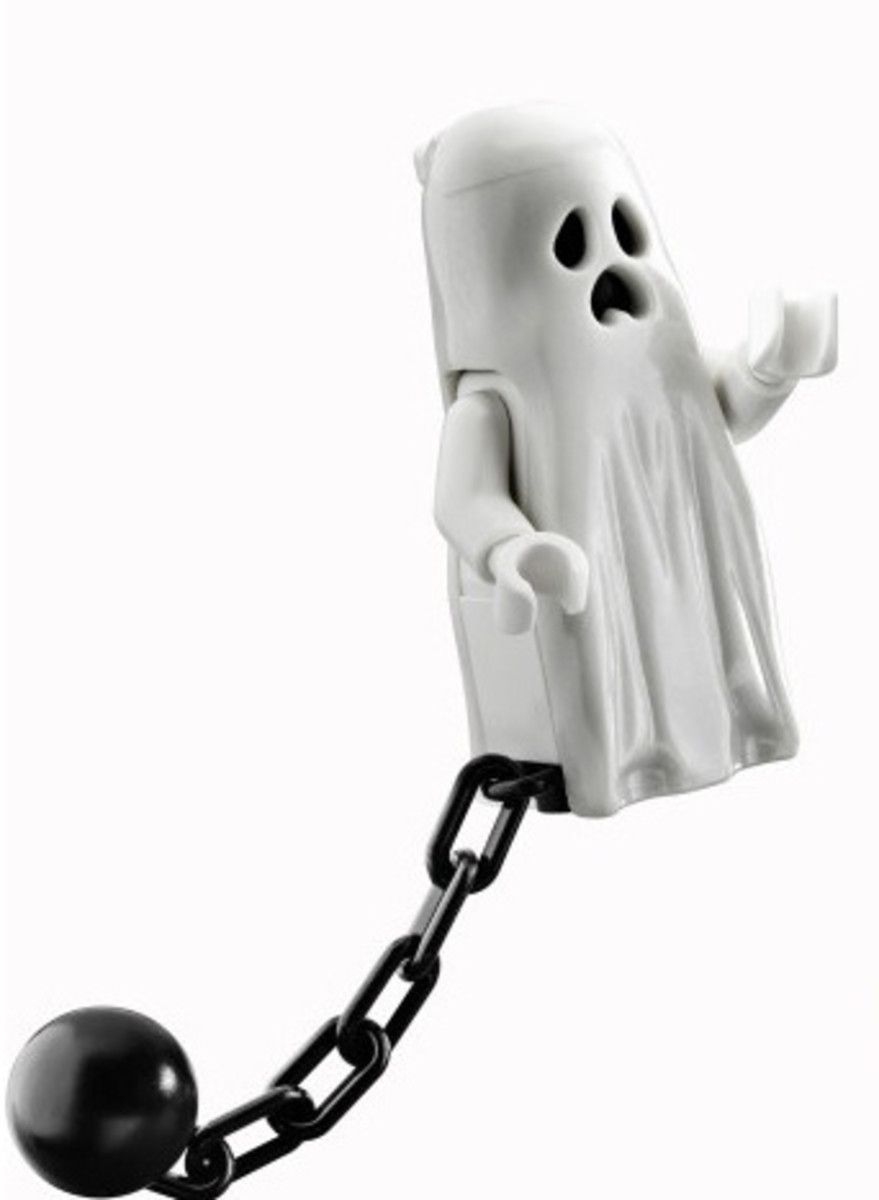 LEGO Monster Fighters Ghost Minifigure (No Legs)