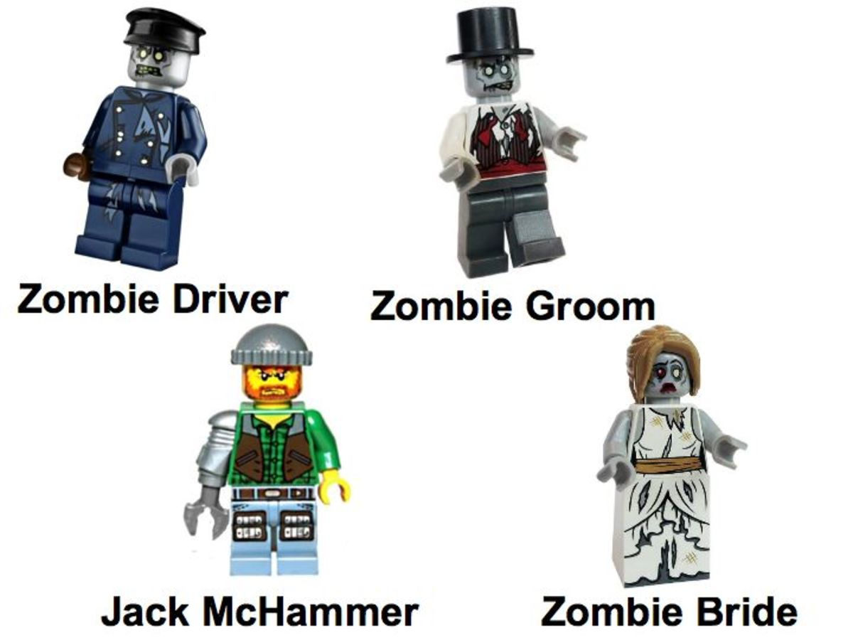 LEGO Monster Fighters The Zombies 9465 Minifigures