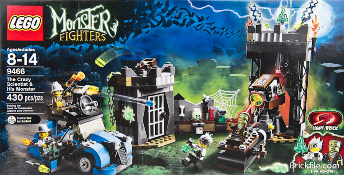LEGO Monster Fighters The Crazy Scientist And His Monster 9466 Box