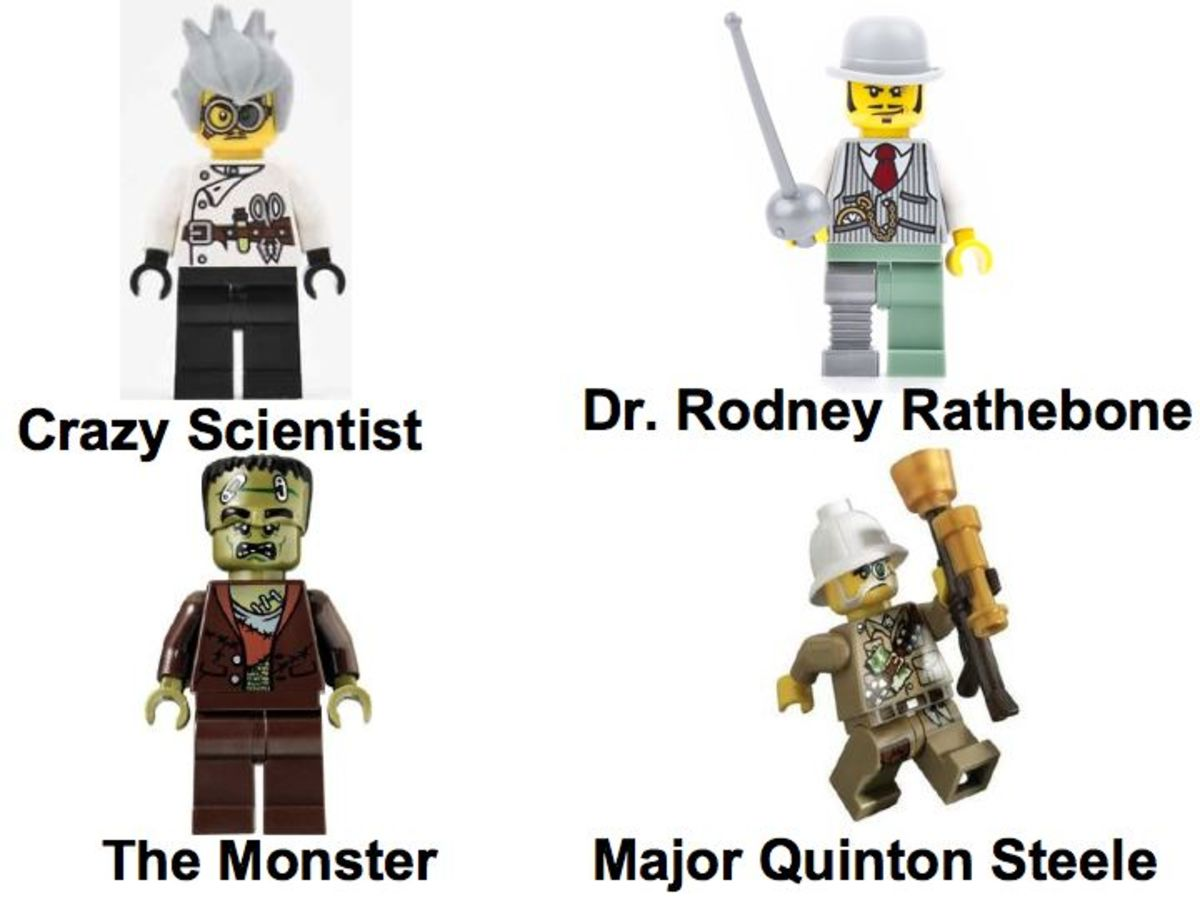 LEGO Monster Fighters The Crazy Scientist And His Monster 9466 Minifigures