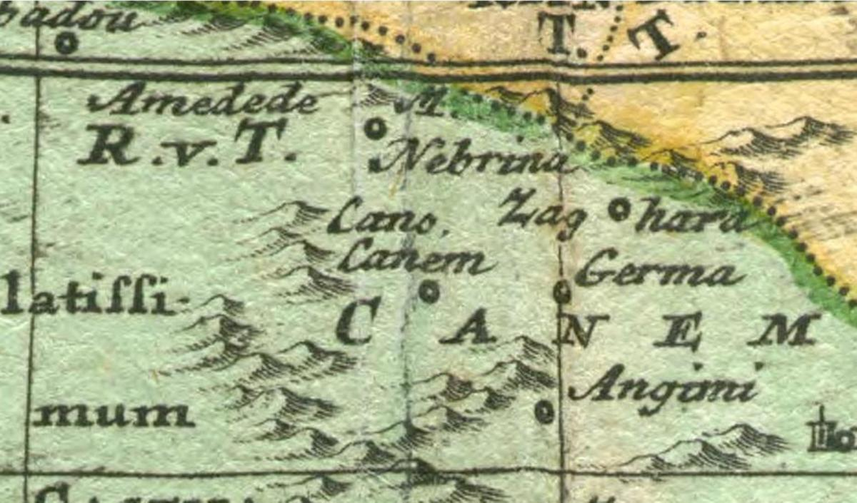 Land of Cainan son of Seth -   North West Africa 1530
