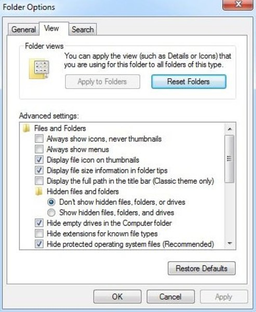 This is the window you will go if you want extensions on file names to be visible.