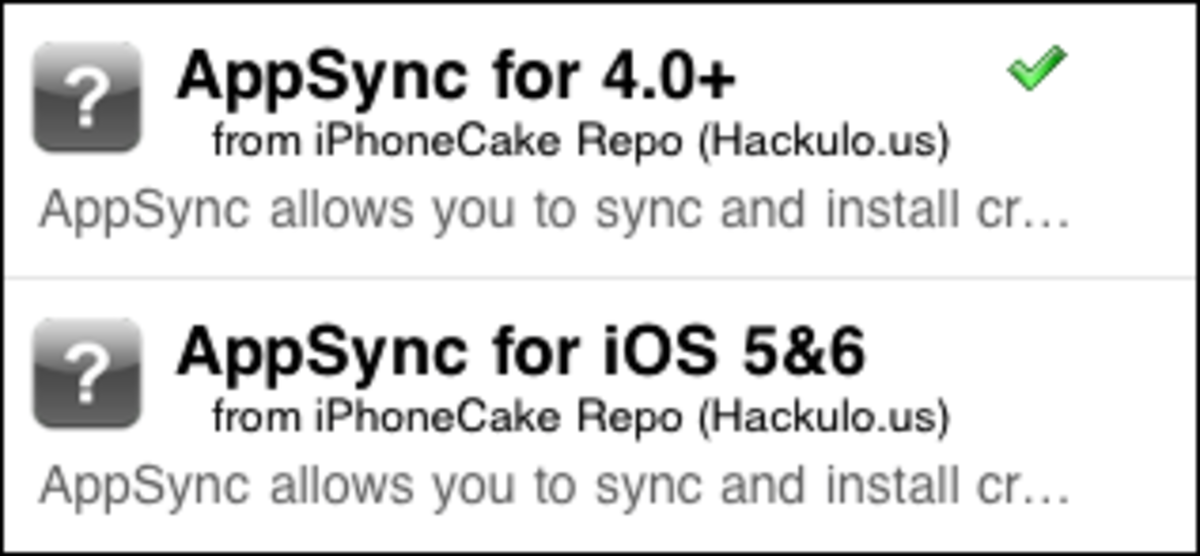 The tick symbol besides Appsync shows it is now installed