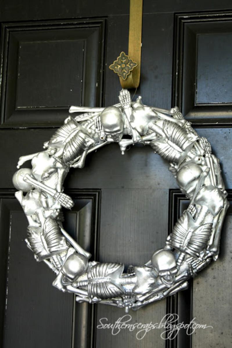 Handmade Skeleton Wreath