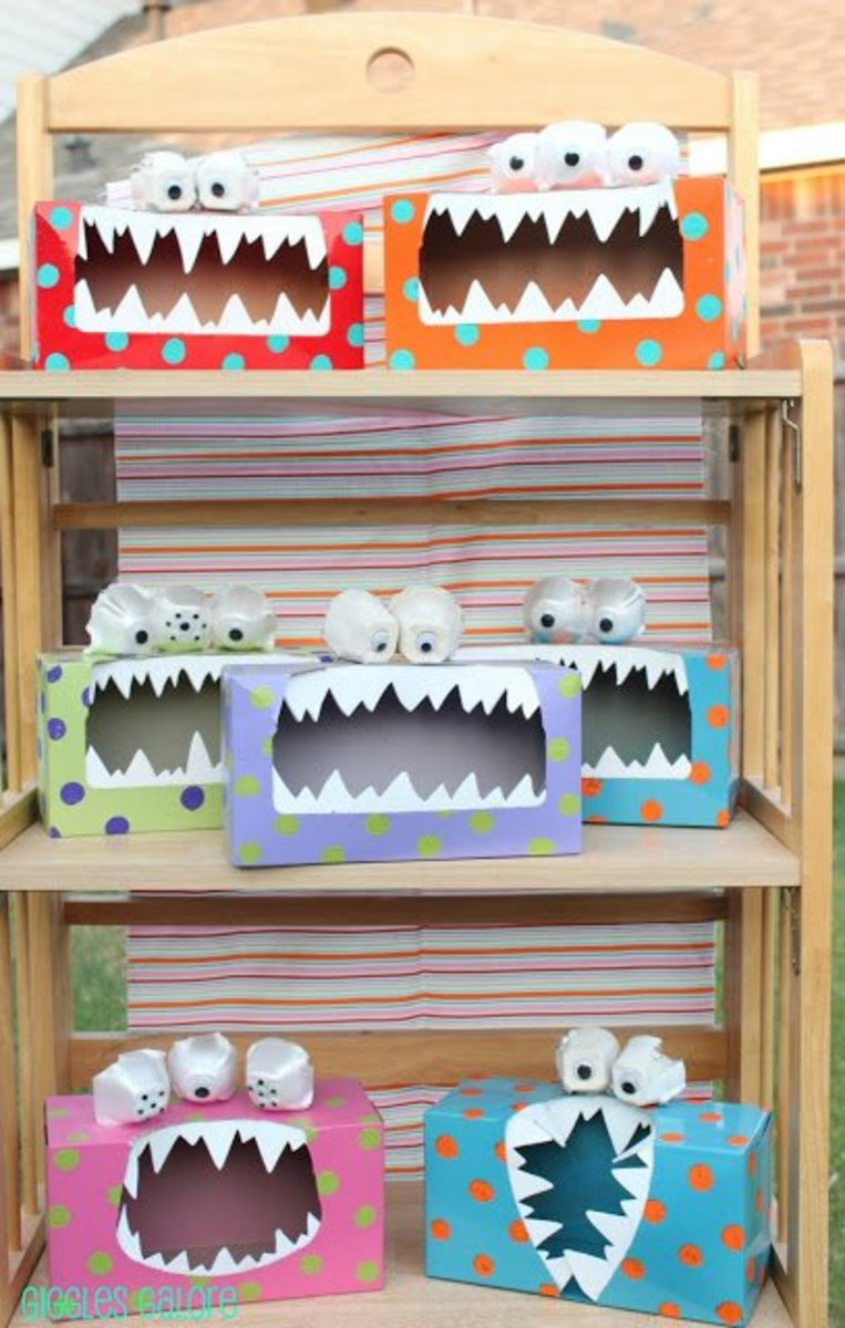 Handmade Tissue Box Monster