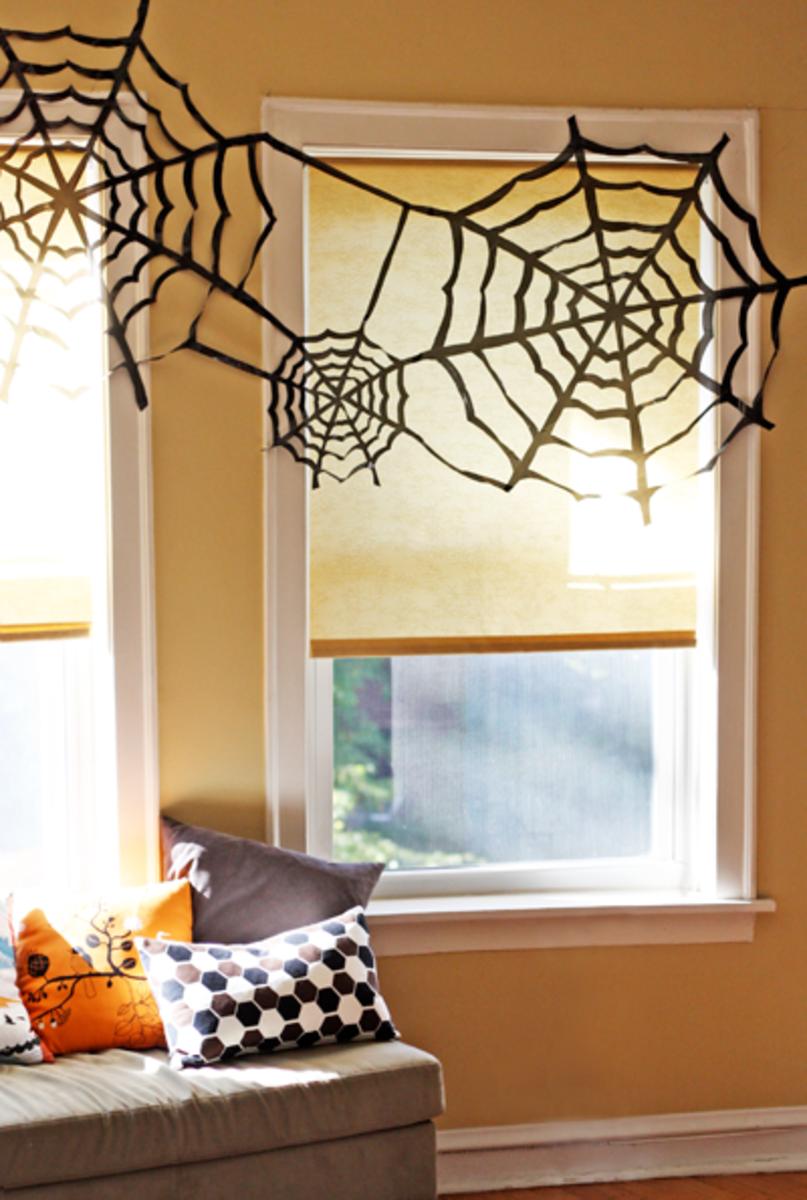 Handmade Bin Bag Spider Webs