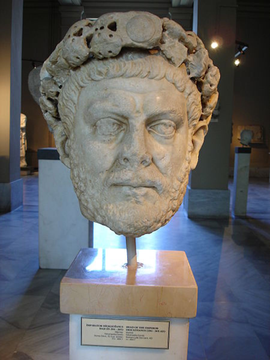 The emperor Diocletian (AD284-305).