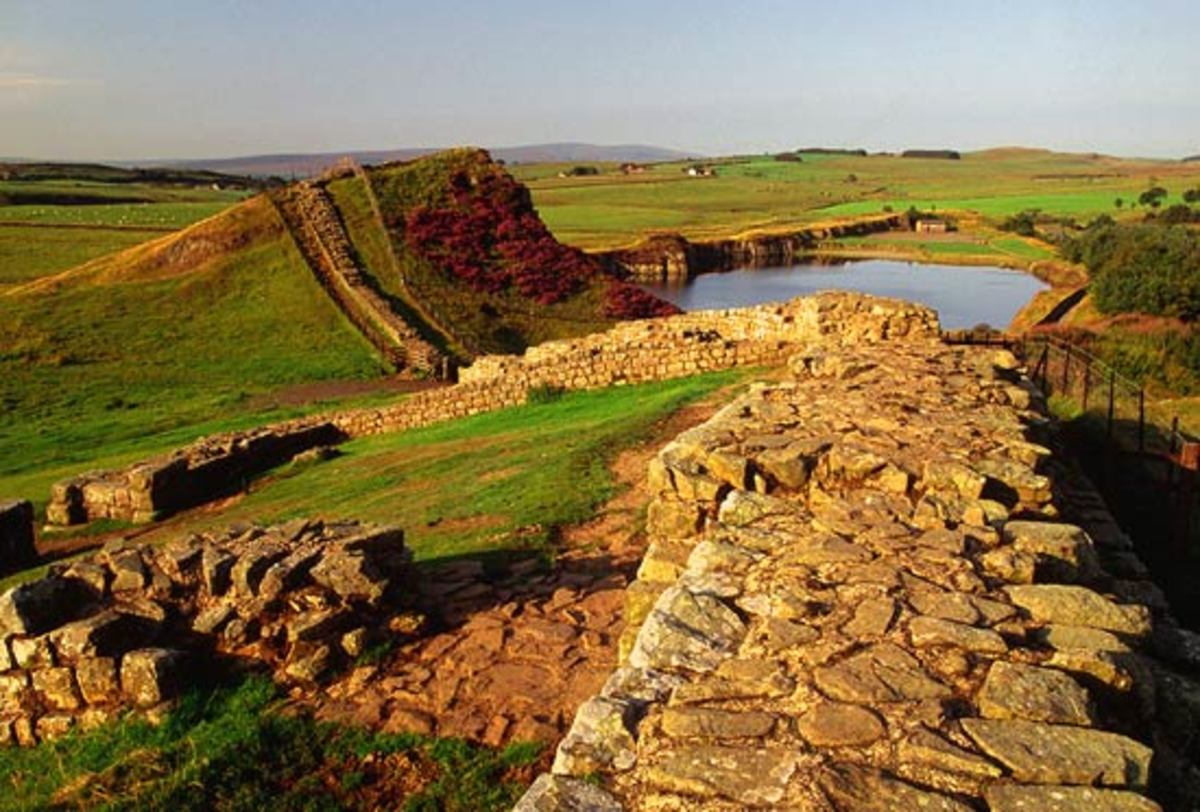 Remains of Hadrian's Wall.