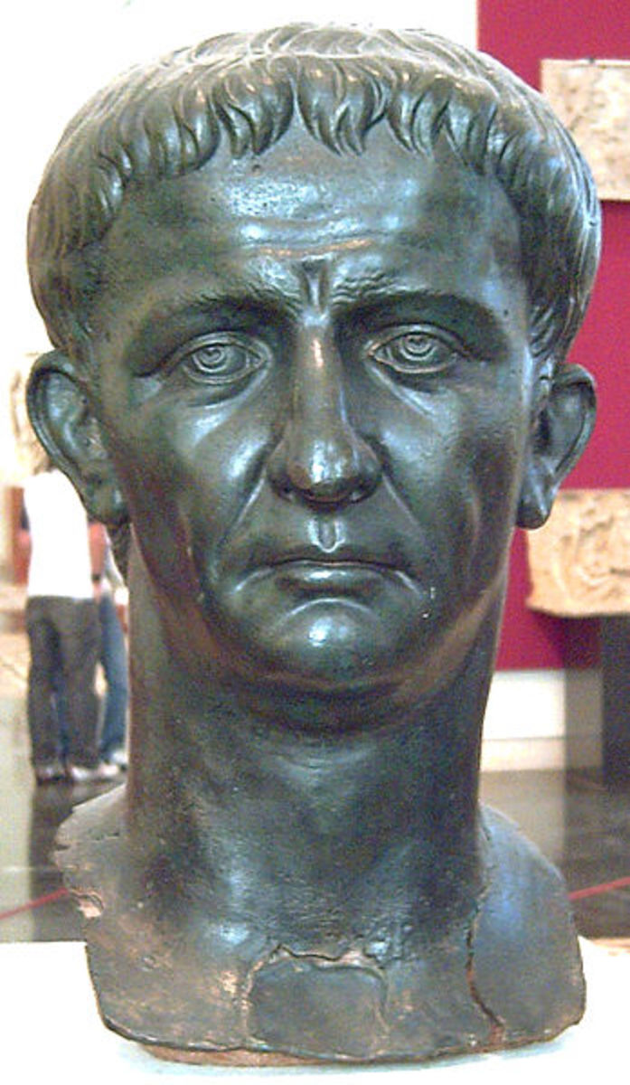 The Roman Emperor Claudius (Reigned AD41-54), who launched the first successful Roman invasion of Britain.