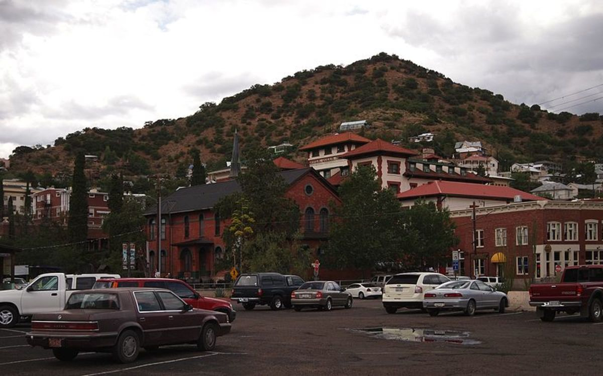 The architecture in Bisbee, Arizona is NOT typical of that of the rest of Arizona.