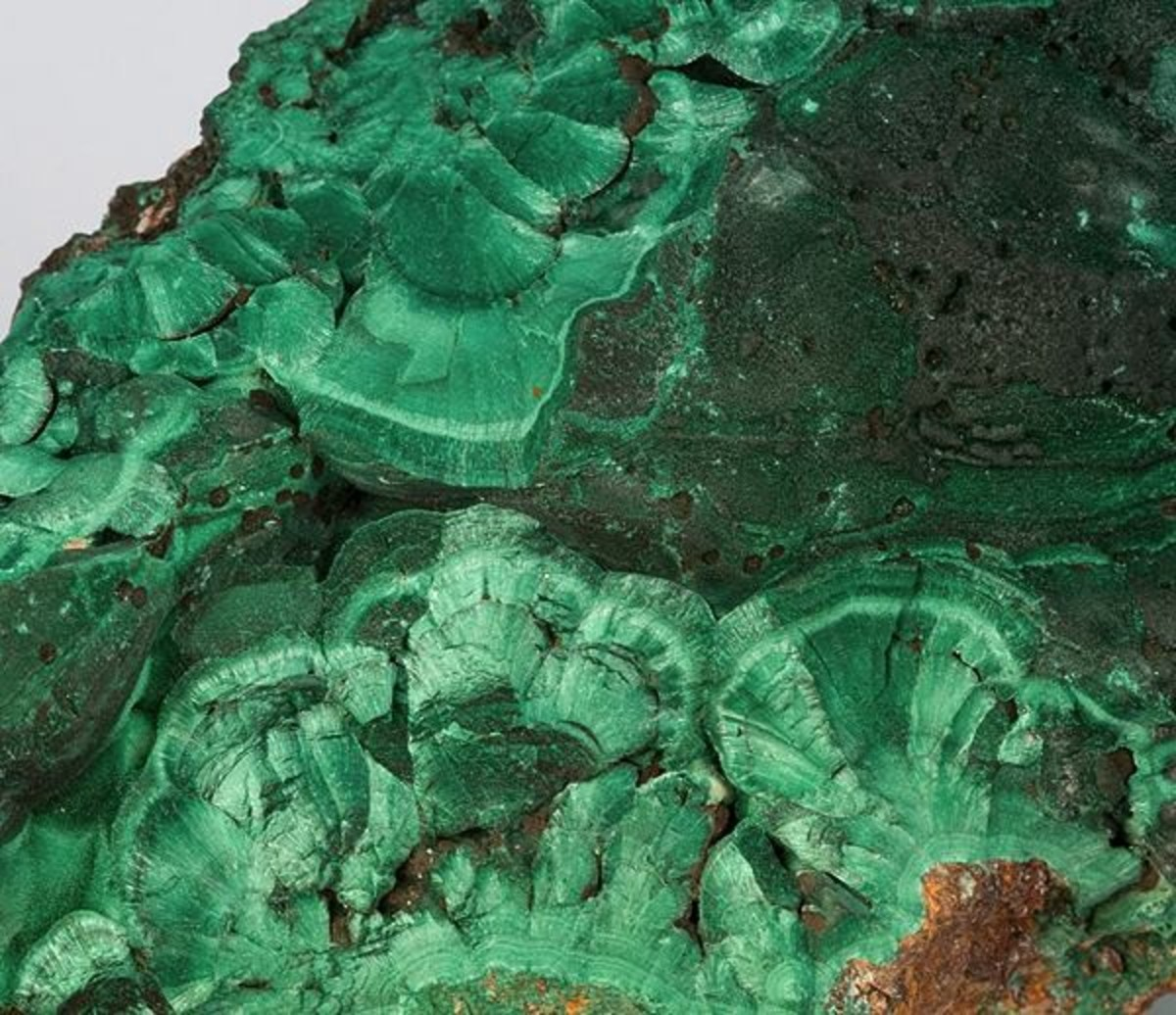 Chatoyant Malachite from Bisbee, Arizona