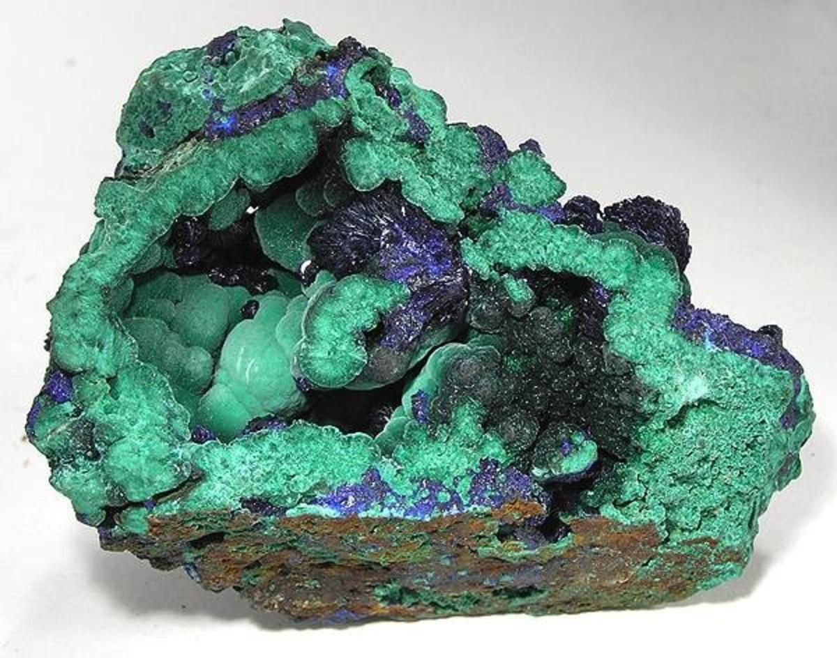 Azurite/Malachite from Bisbee, Arizona