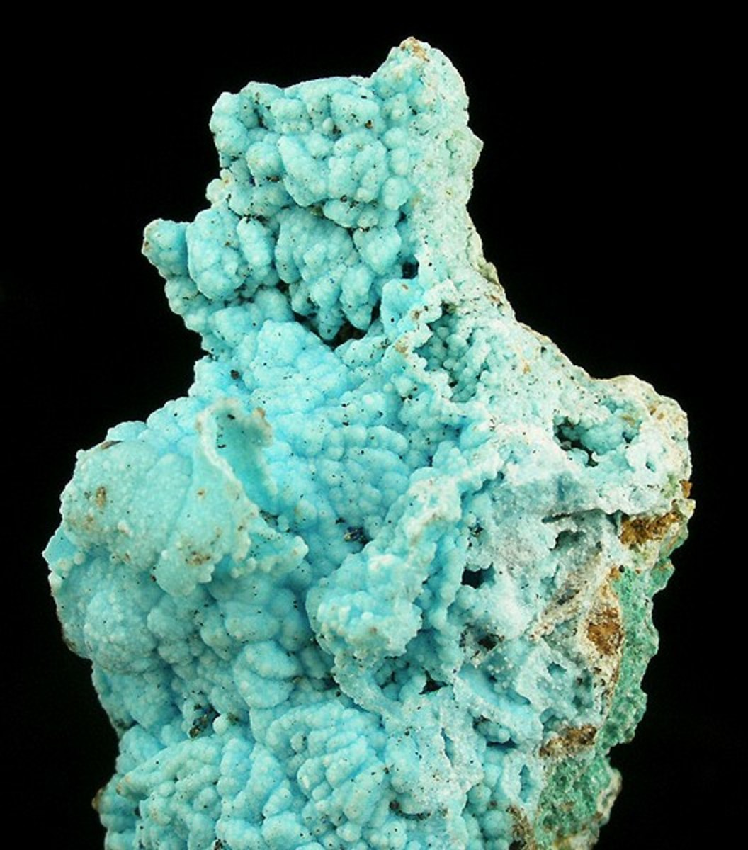 Chalcoalumite from the Copper Queen Mine in Bisbee, Arizona
