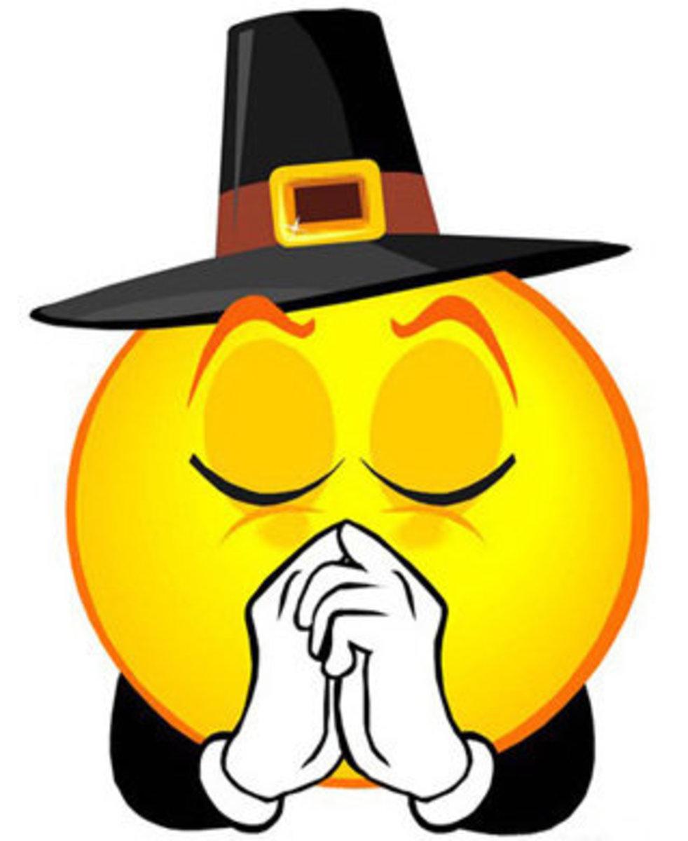 Pilgrim Saying Thanksgiving Prayer
