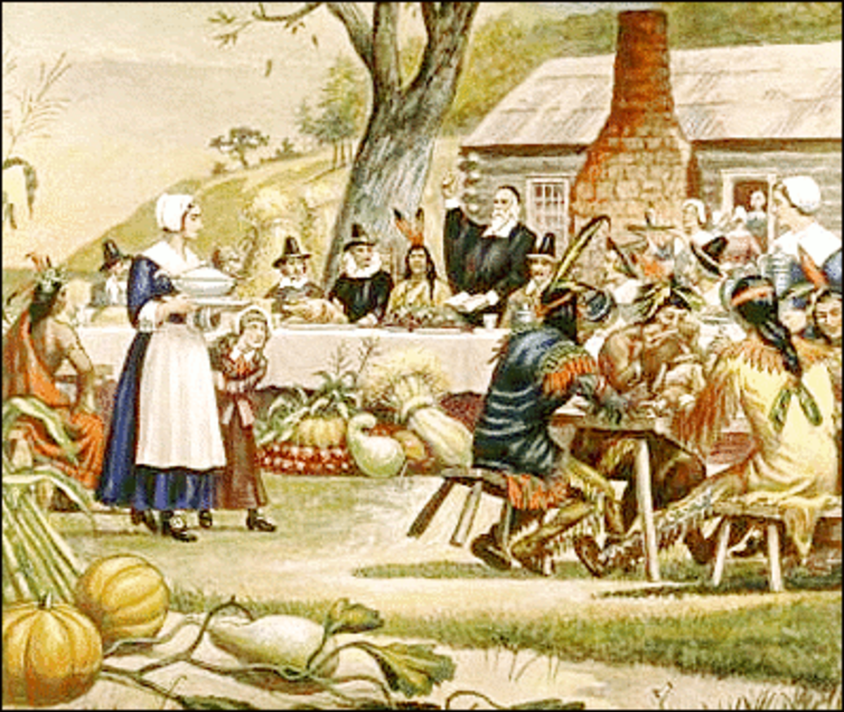 First Thanksgiving With Bible Reading