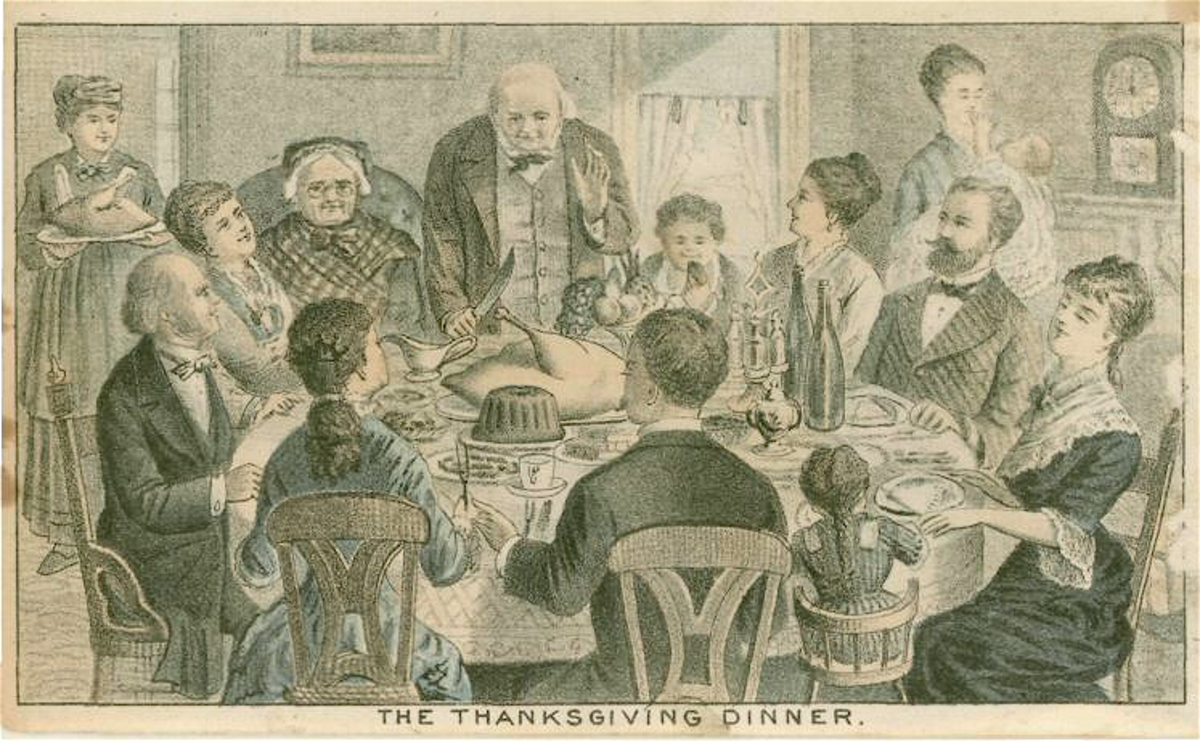 Thanksgiving Dinner in 1870 Picture