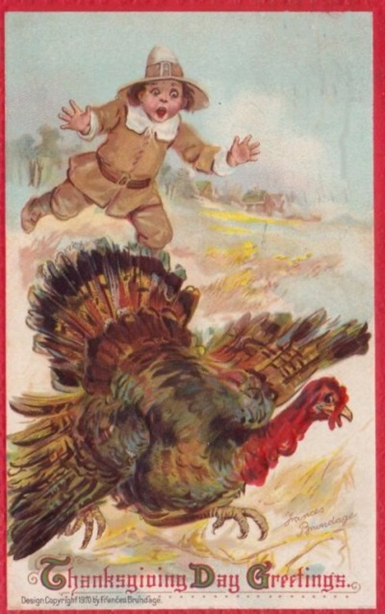 Thanksgiving Greeting Card - 1910