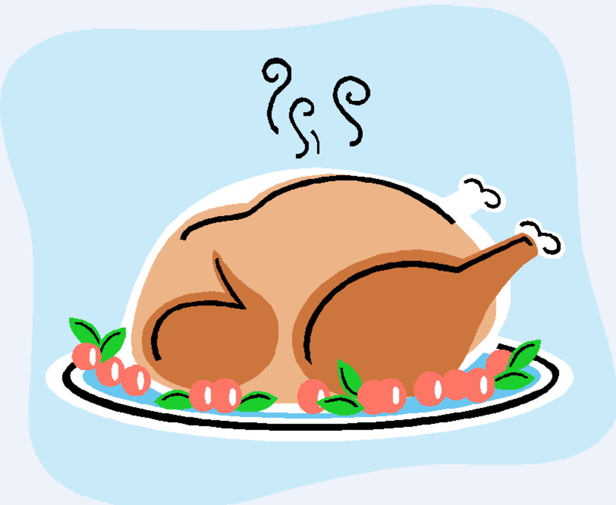 Steaming Turkey with Cranberries