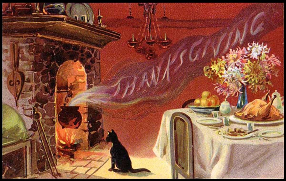 Hearth and Thanksgiving Dinner Table